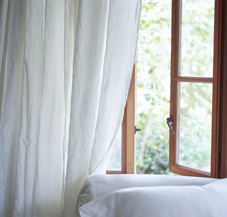 Longtime Remodelista favorite and Remodelista Market alum Rough Linen makes their Orkney Linen Curtain in seven different shades; $5 per panel.