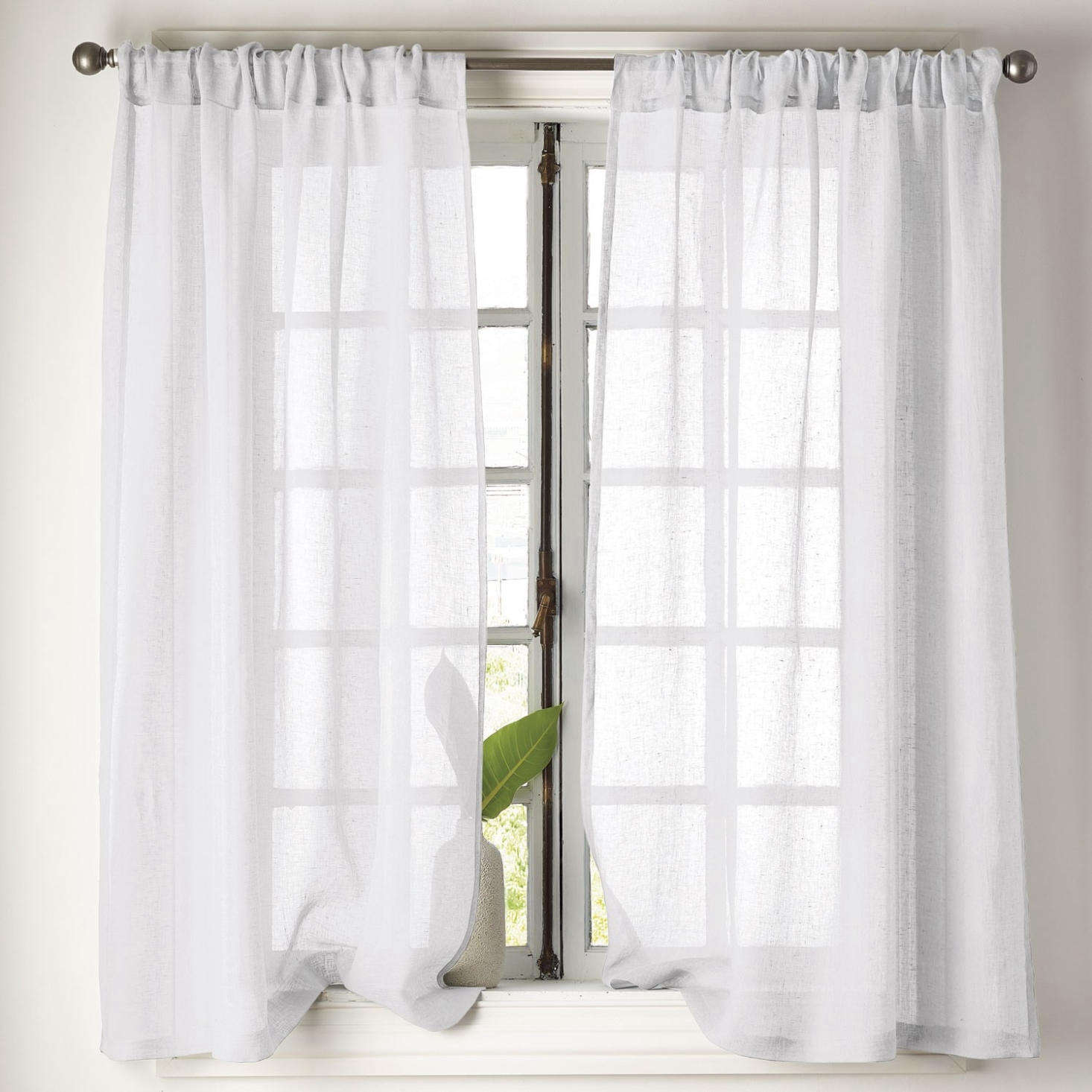 From The Company Store, the Sheer Linen Window Panel starts at $49 per panel and comes in a range of colors.