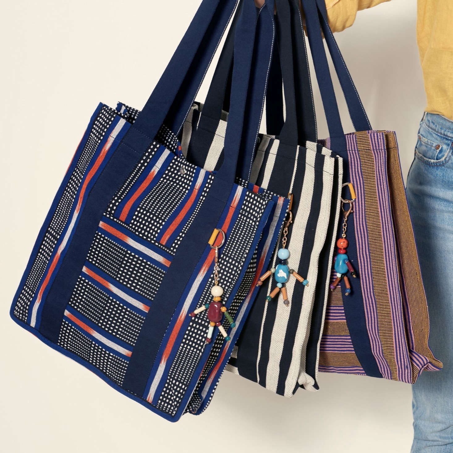 Goodee's own Bassi Market Tote ($9) is made of organic cotton and created with Cartiera, an Italian social cooperative dedicated to empowering asylum seekers and migrants. It comes in four colorways and has a metal ring to keep your keys handy.