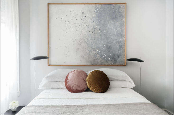 the round velvet pillows are from west elm. 18
