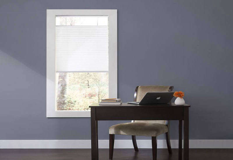 The Deluxe Cordless Top Down Bottom Up Pleated Shades start at $6