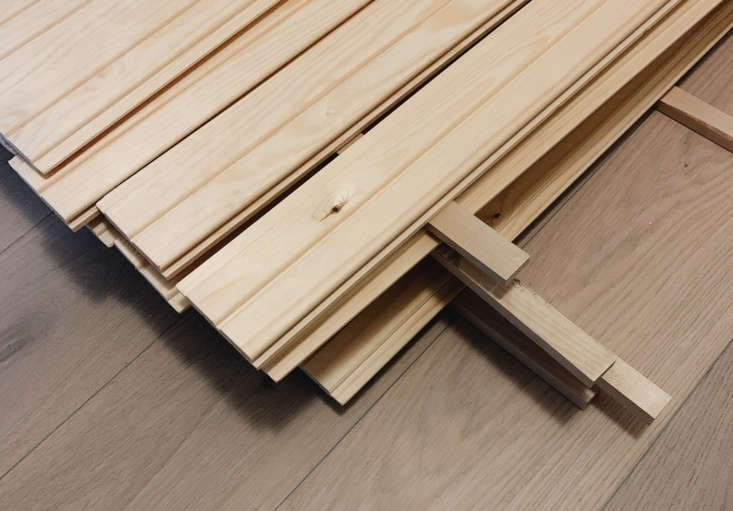 Maiju used pine panels (shown here) that are much like Lowe&#8