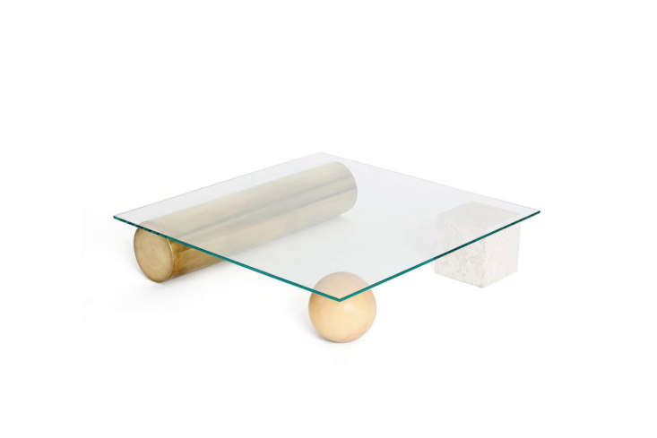 The Faye Toogood Element Table made up of a glass top floating on three elements is available from Kooku Design or from Hub.
