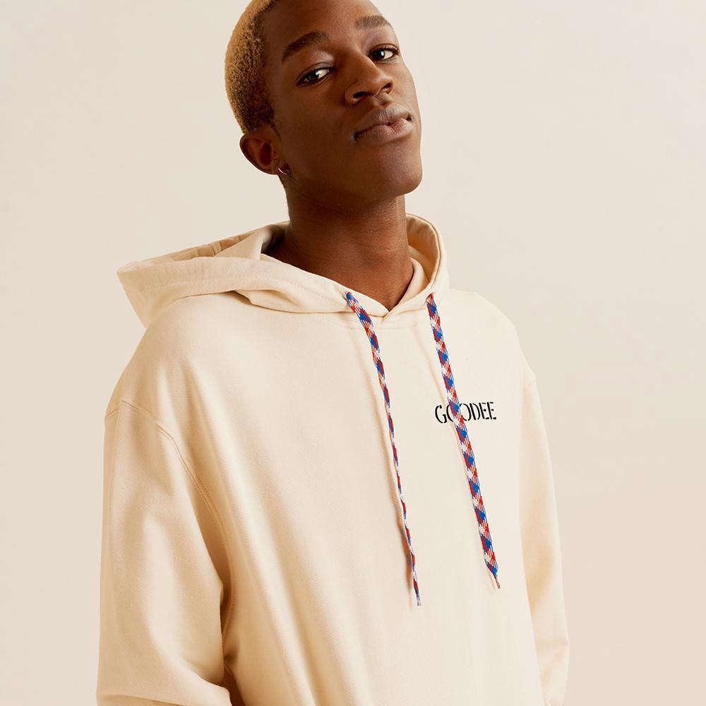 And we love Goodee's own limited-edition Goodee Hoodie ($0), shown here in the color Alabaster and made in collaboration with ethical clothing company Kotn.