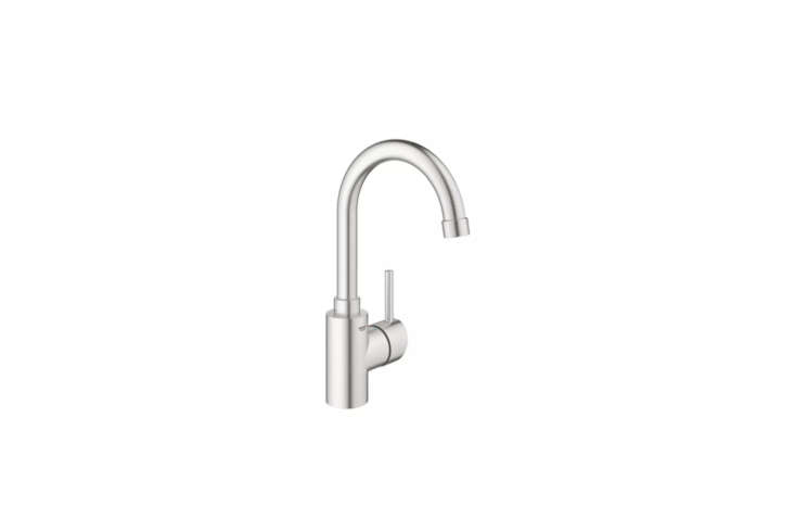 The Grohe Concetto Bar Faucet (3DC0) in Starlight Chrome or SuperSteel (shown) starts at $9.40 available at Build.com.