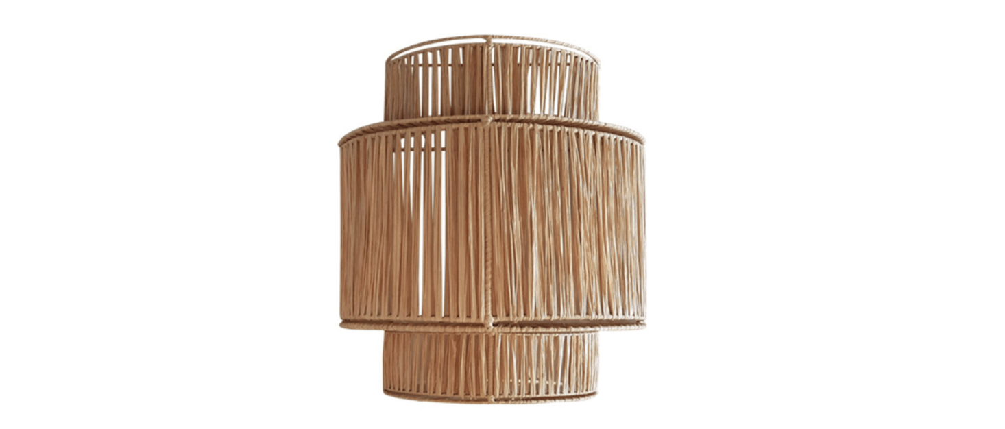 The Raffia Wall Lamp from Marseilles-based Honore Deco is €src=