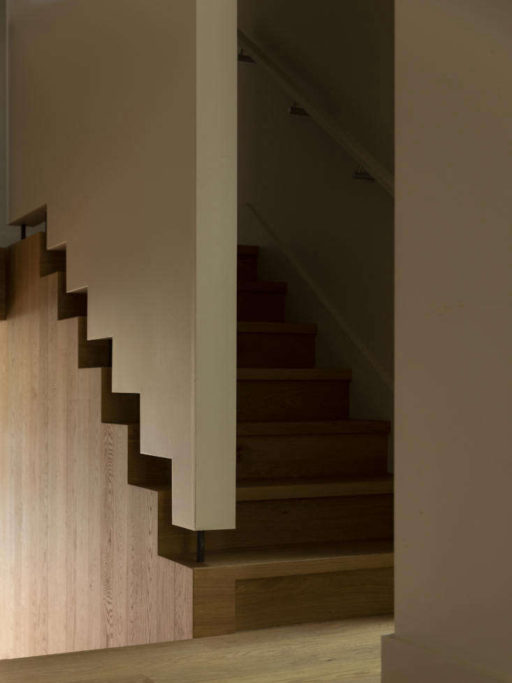 A detail of Jack McKinney Architects' custom staircase.