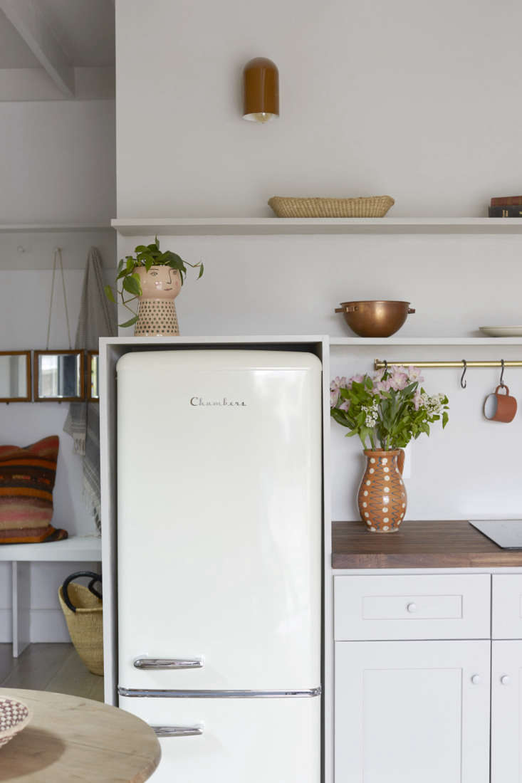a chambers fridge—&#8\2\2\1;picked for its retro design and size&#8\2 14