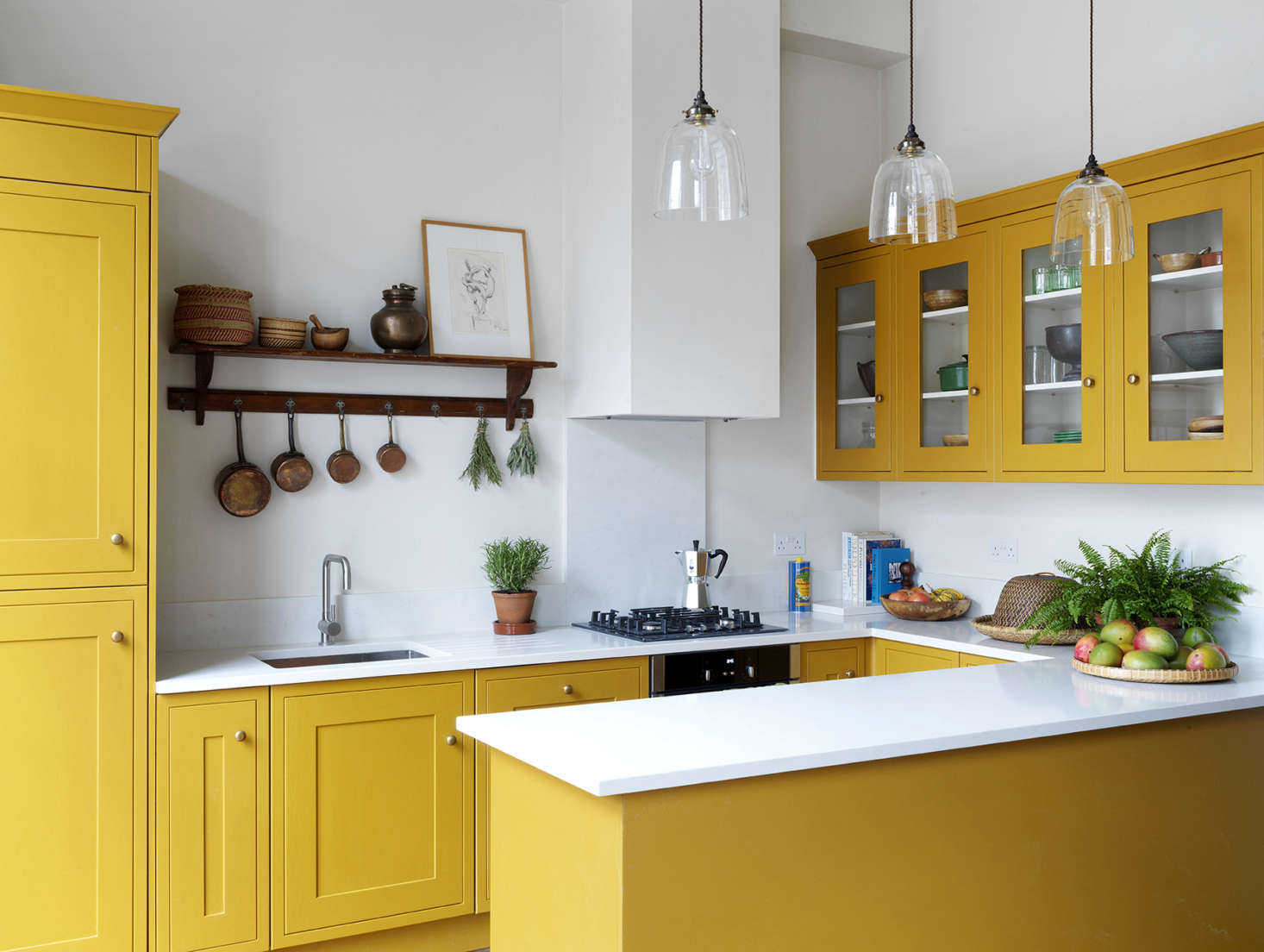 Interior designer Lonika Chande painted this new kitchen in multiple coats of Paper & Paint Library&#8