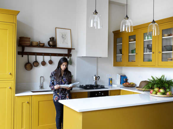 Trend Alert Bright Yellow Kitchens With Painted Kitchen Cabinets