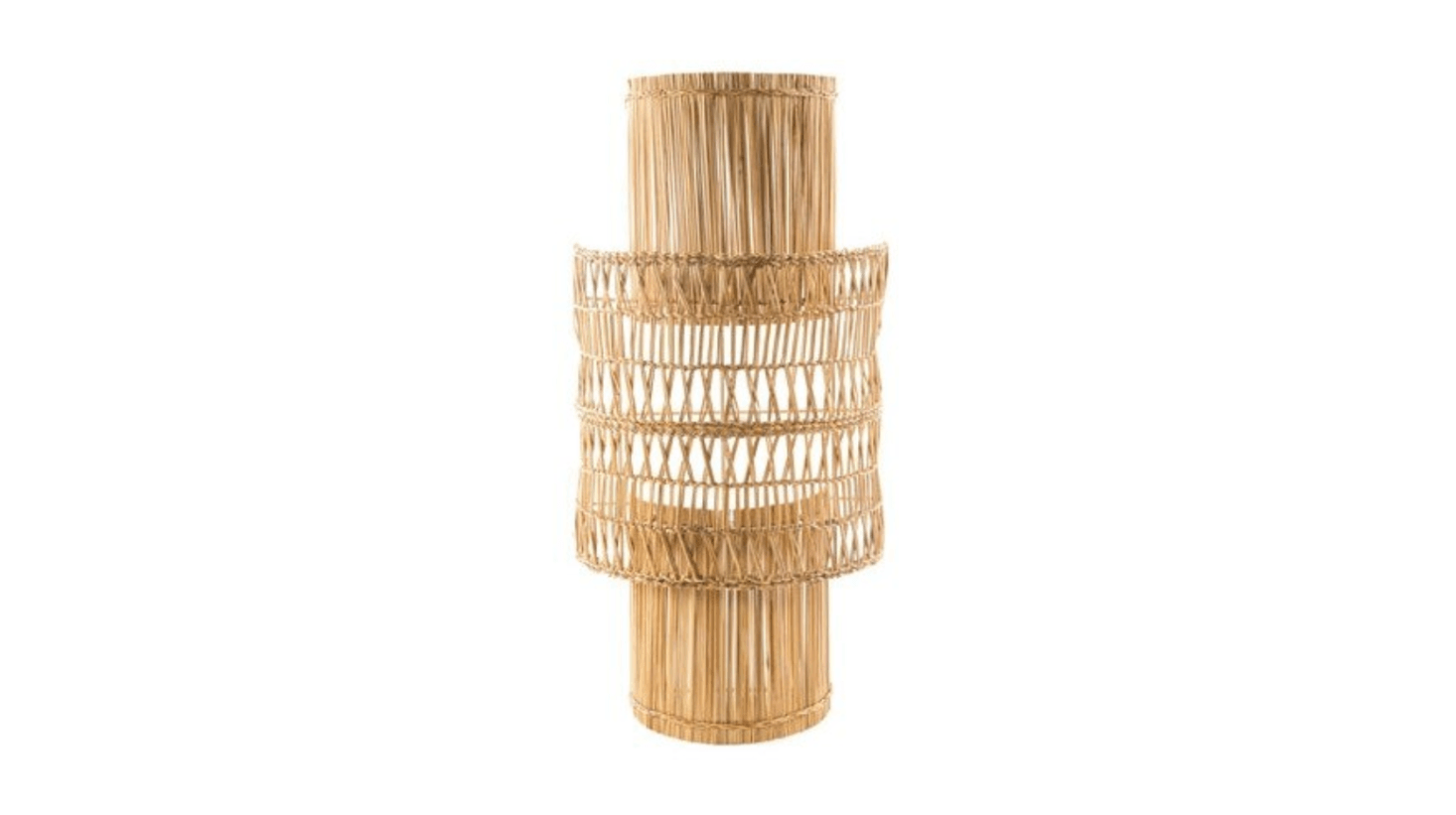 The Sconce Candil shade is made of bulrush over a metal frame; $9 from Maison of Hand.