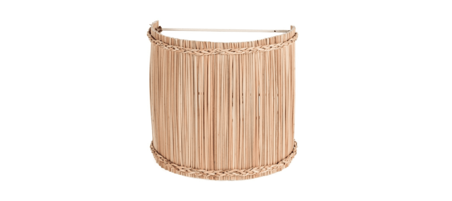 From Maison of Hand in LA: the Sconce Jonc shade is made of bulrush over a metal frame; available in two sizes (the smaller is $79, the larger is $src=