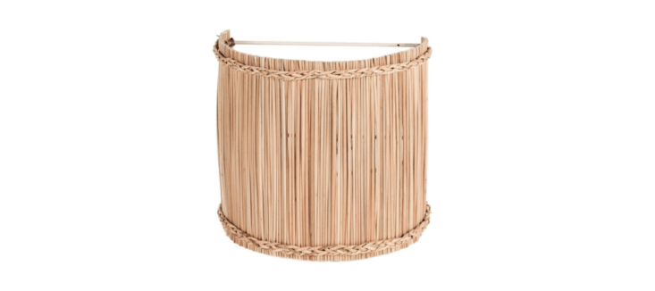 From Maison of Hand in LA: the Sconce Jonc shade is made of bulrush over a metal frame; available in two sizes (the smaller is $79, the larger is $loading=