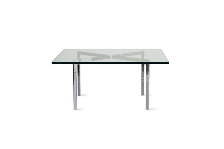 10 Easy Pieces Modern Glass Coffee Tables Designed by Mies van der Rohe and produced by Knoll, the Barcelona Table was first created for his Villa Tugendhat in Brno, Czech Republic. The table is still produced today for \$\2,05\2 at Design Within Reach.