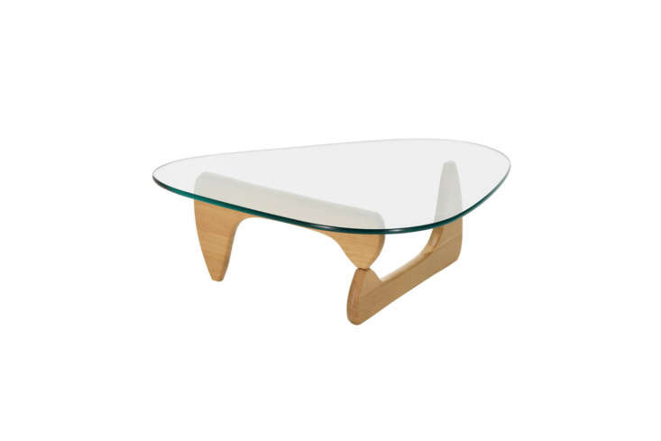 10 Easy Pieces Modern Glass Coffee Tables The classic Noguchi Table designed by Isamu Noguchi for Herman Miller comes in White Oak (shown), White Ash, Walnut, and Black; \$\1,995 at Design Within Reach.