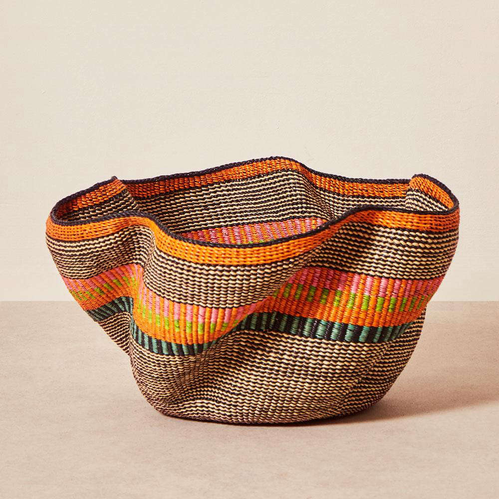 The Pakurigo Basket by Baba Tree ($0) is woven from palms by Ghanaian artists, with a wave-like design that's a mark of expert weaving. Each basket is unique.