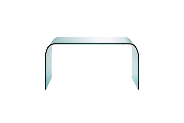 10 Easy Pieces Modern Glass Coffee Tables Designed by Pietro Chiesa for FontanaArte, the all glass Fontana Coffee Table is \$\1,036 at Finnish Design Shop.