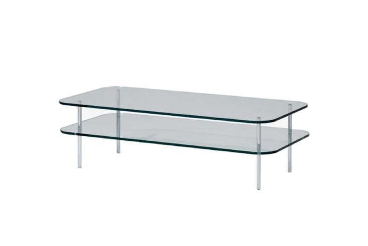 10 Easy Pieces Modern Glass Coffee Tables The SCP Sax Rectangular Coffee Table is \$995 at Horne.