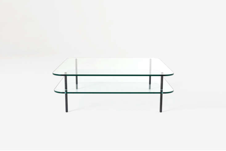 10 Easy Pieces Modern Glass Coffee Tables Designed by Terence Woodgate for SCP, the Sax Square Coffee Table starts at \$\1,3\18 from The Future Perfect. Also available in a rectangular shape.