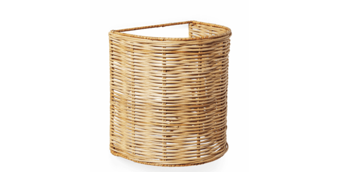 The woven rattan Santa Barbara Drum Sconce from Serena & Lily is currently on sale for $8 (down from $8).
