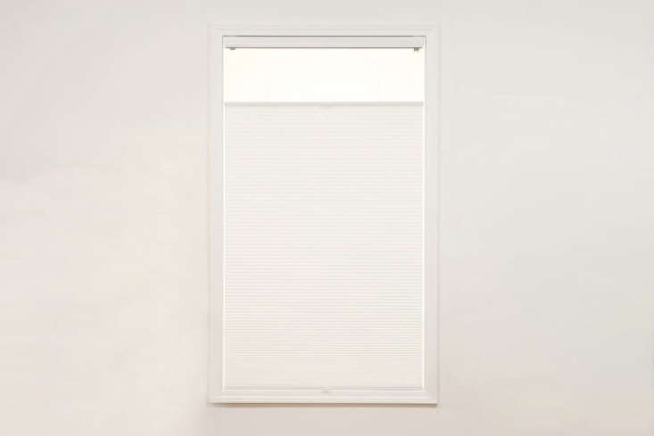 The Cordless Light Filtering Top Down Bottom Up Shade White is $3.99 at Sure Fit.