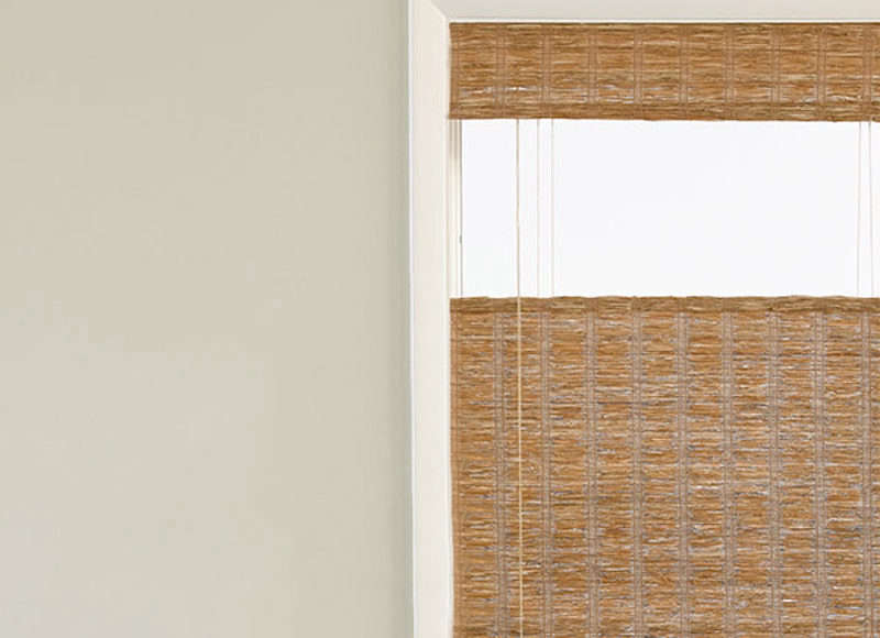 The Woven Wood Shades from The Shade Store come in top down bottom up styles. Contact The Shade Store for pricing and ordering information.