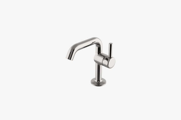 The Waterworks . One Hole High Profile Bar Faucet with Short Metal Handle (PTKM35) is available in the loading=