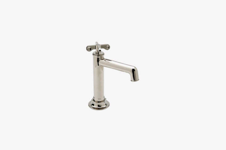 On the luxe end of the spectrum, the Waterworks Henry Bar Faucet with Metal Cross Handles (HNKM40) comes in loading=