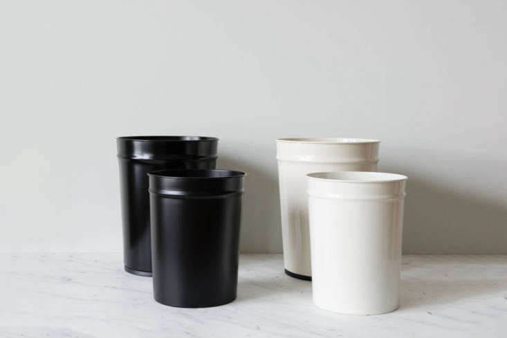 The Bunbuko Co. Japan Waste Basket comes in black and white and in a size small for the bathroom; $34 at June. It&#8