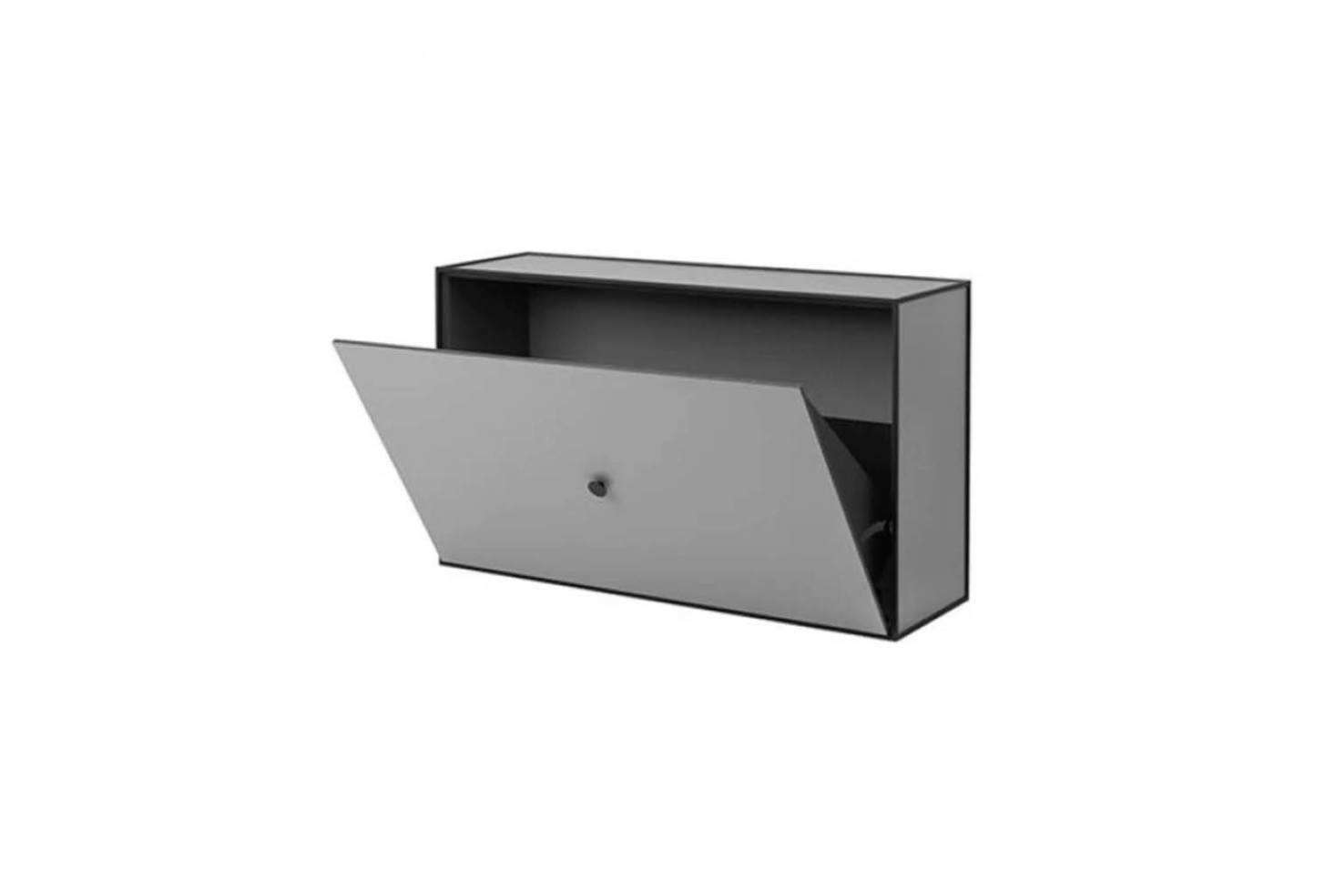 The By Lassen Frame Shoe Cabinet comes is a wall-mounted design specifically for shoes and can be used alone or in multiples. Available in Dark Gray (shown), Light Gray, White, Dark Blue, and Black-Stained Ash starting at $7 each from Horne.