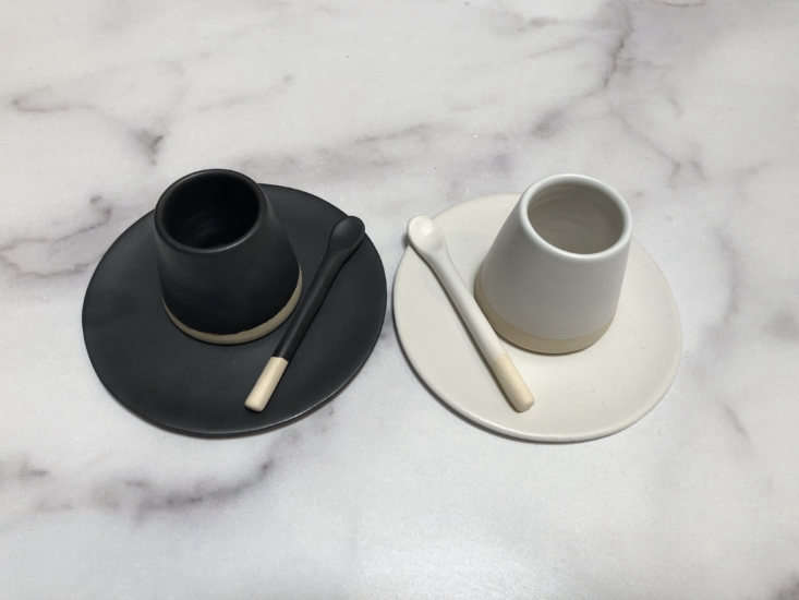 8 Favorites Handmade Ceramic Spoons Sleek and modern, the Casa Cubista Matte Tableware Spoon is handmade and hand painted in Portugal; \$\1\2 at Atacama Home.