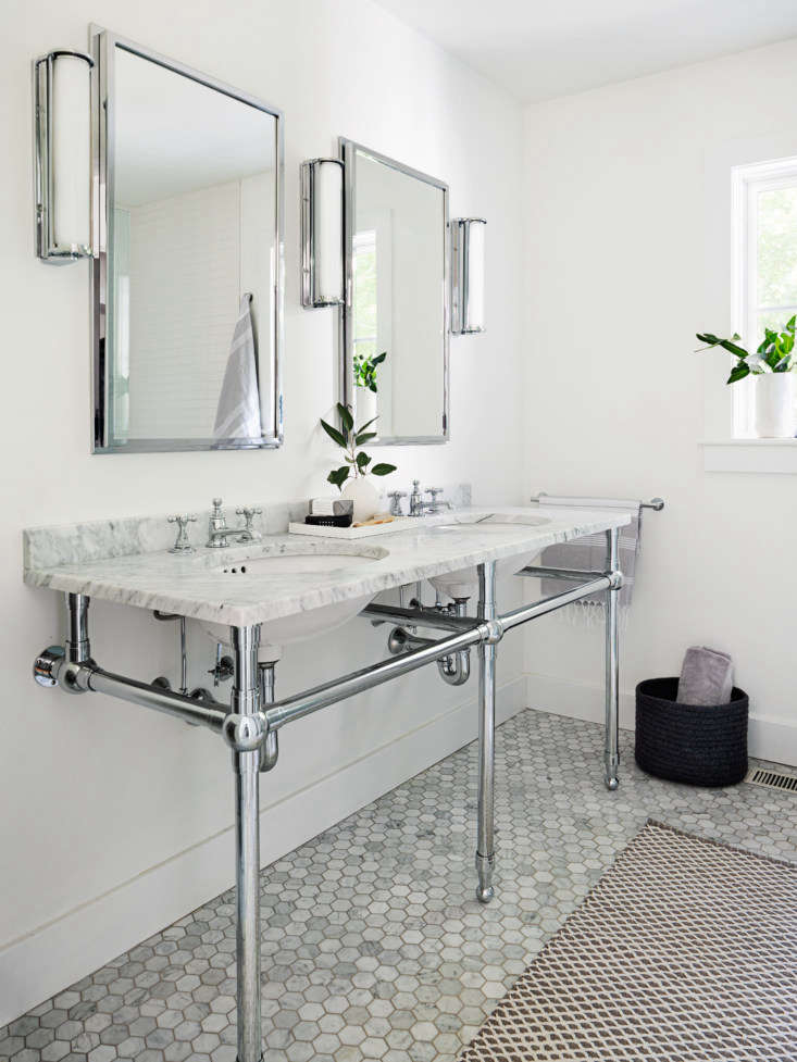 the mine and yours washstand is the gramercy from restoration hardware with wat 20