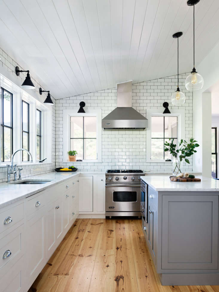 the kitchen cabinets are from plain & fancy custom cabinetry in their flush 17