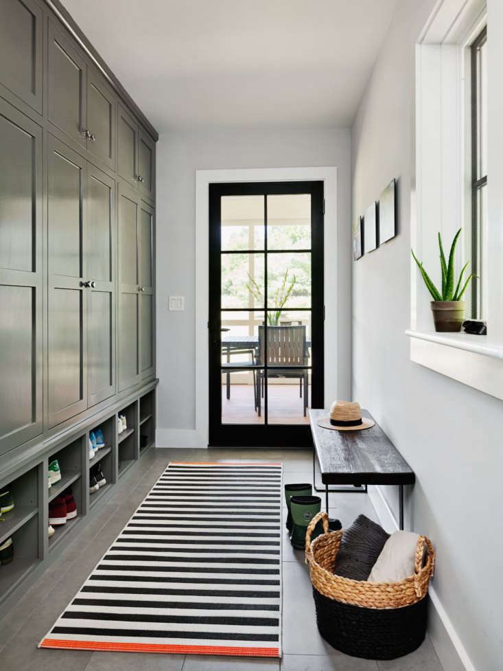 the mudroom has purpose built storage for every member of the family: the tarts 13