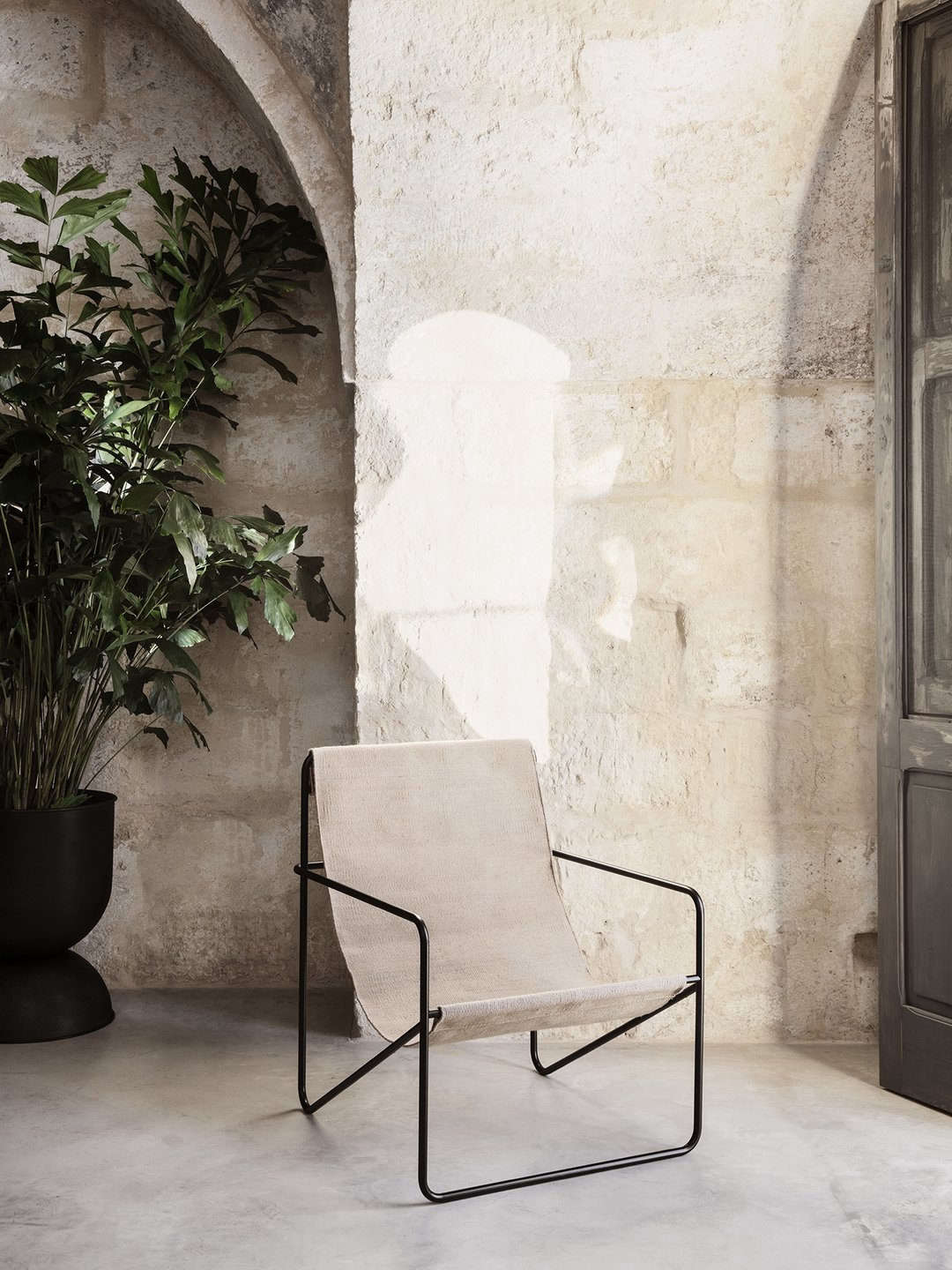 The Desert Lounge Chair with a Solid Cashmere Cover; $345 from Lekker Home.
