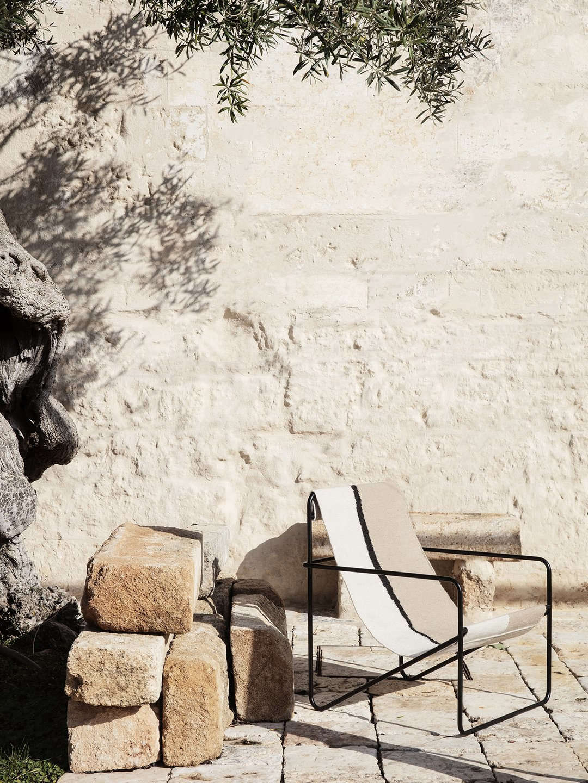 The Desert Lounge Chair in Black/Soil; $345 from Lekker Home.
