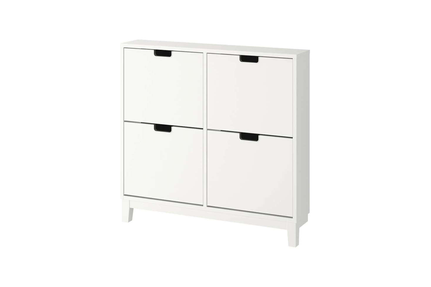 The Ikea Ställ Shoe Cabinet with 4 Compartments in White is $99. The design is also available as a taller 3-compartment unit for $9 at Ikea.