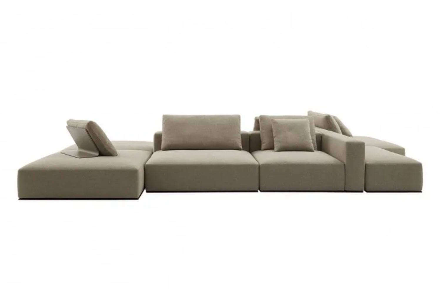Designed by French architect Jean-Marie Massaud for Poliform, the Westside Sofa is available in fabric or leather upholstery and in a wide variety of configurations. Contact dePlain for pricing and availability.