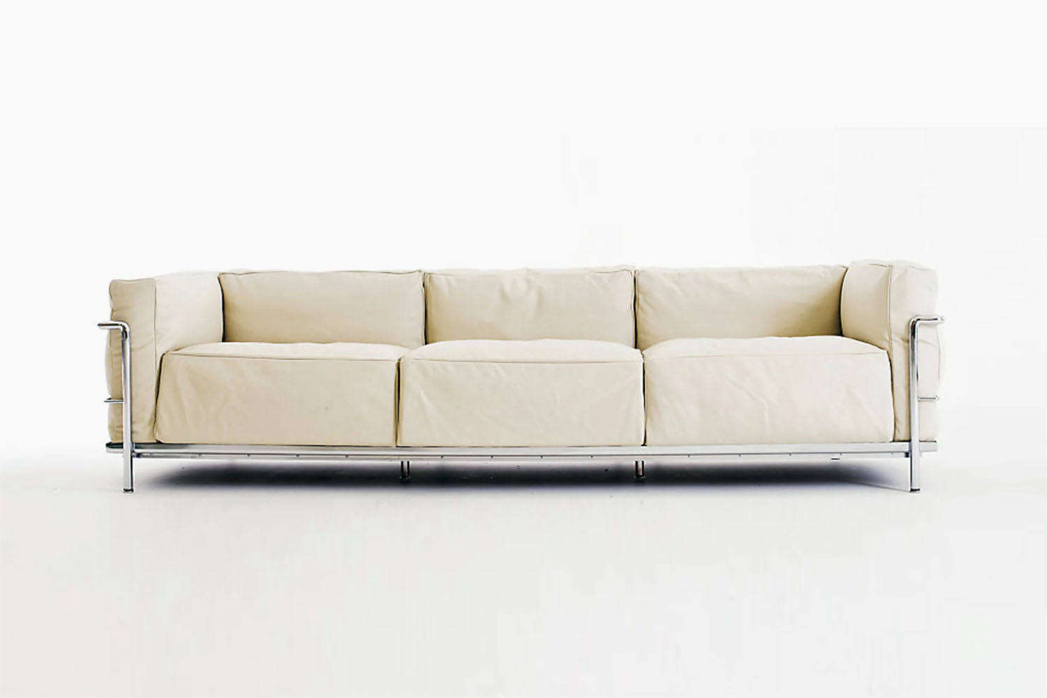 An iconic collaborative design between architects Charlotte Perriand, Le Corbusier, and Pierre Jeanneret for Cassina, the LC3 Grand Modele Sofa starts at $loading=