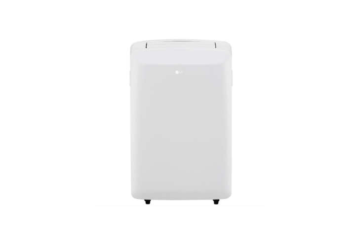 The sleek-looking LG (LP08WSR) 8,000 BTU White Portable Air Conditioner cools rooms up to 0 square feet; $3 on Amazon.