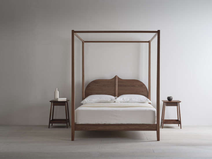 the christo four poster in walnut. the bed frames are made to order and pinch s 11