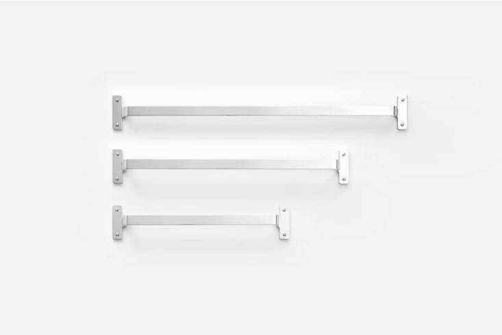 10 Easy Pieces Natural Steel Towel Bars The Nicolai Towel Bar, shown in Polished Nickel, comes in three sizes starting at \$\149 from Schoolhouse.