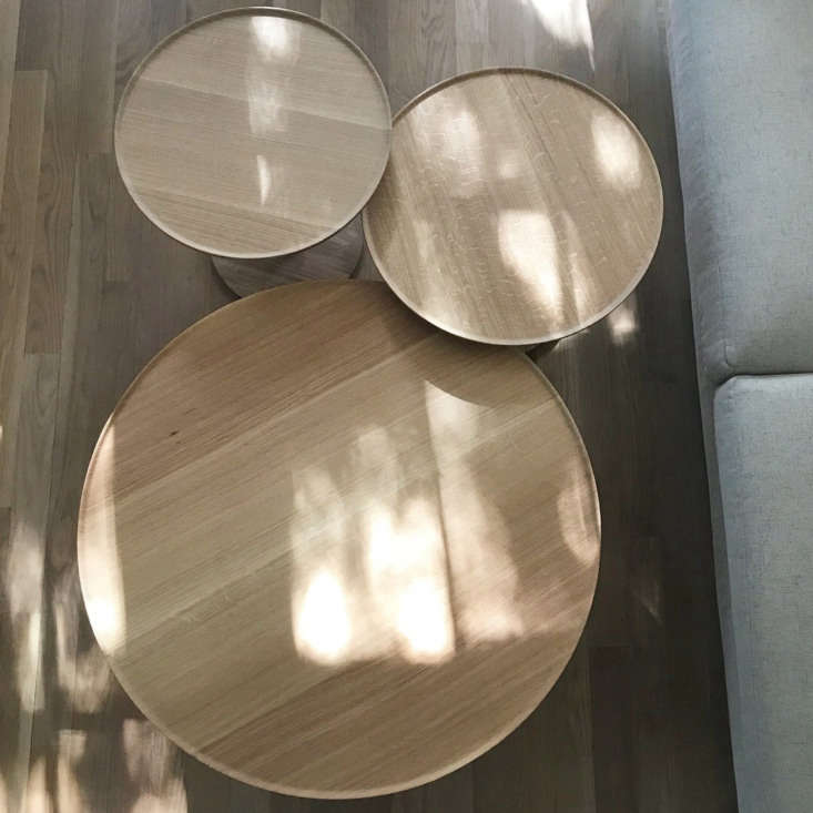 His Lotus Tables can be grouped together or used separately.