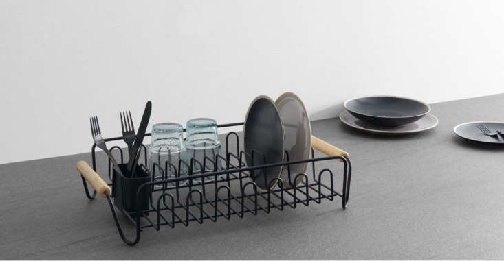The Combe Wire Dish Drainer with Rubber Wood Handles is £ from Made; in the US, it&#8