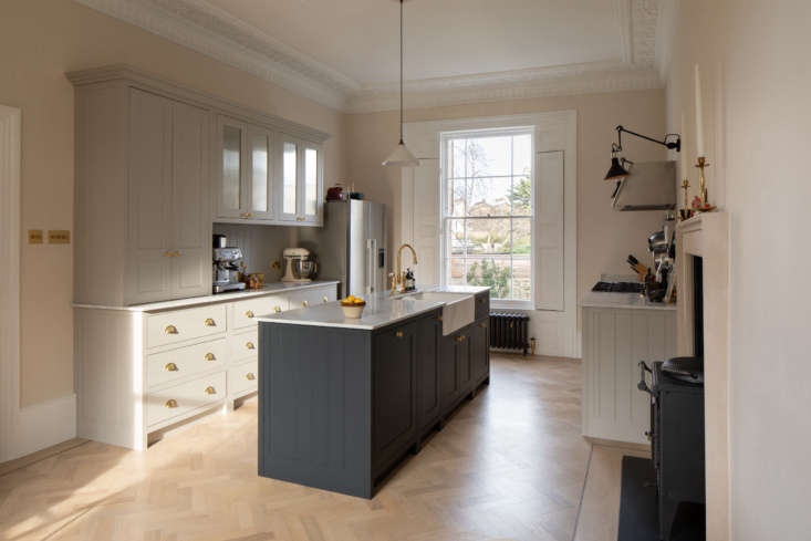Also on the parlor floor is the custom kitchen by Shape London, a joinery workshop that fabricated all the built-ins in this home. Lizzie says &#8