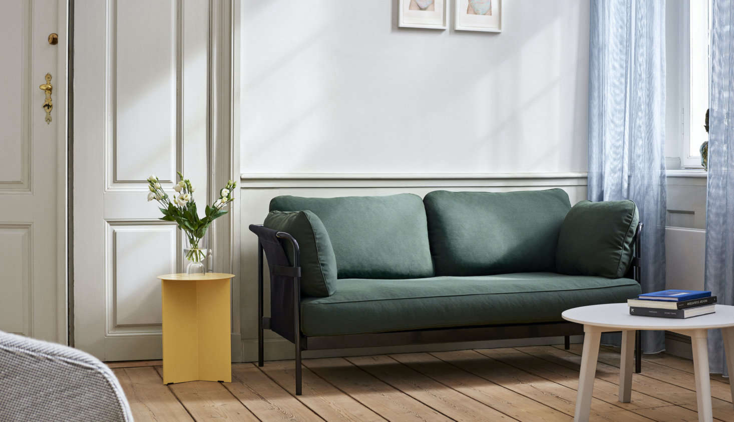 A favorite from the Can Collection: The flat-pack, easy-going Can Sofa (from $