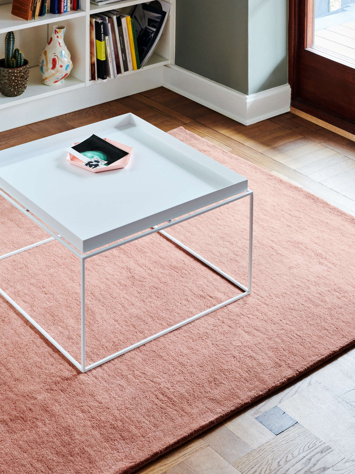 The Tray Coffee Table ($5) can actually be used as a bedside table or—with the top detached—as a tray. It's also available in black, chocolate (a deep red-brown), and grey.