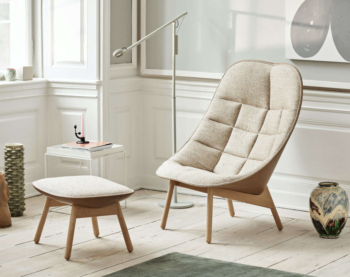 Hay's Uchiwa Lounge Chair and Ottoman (from $