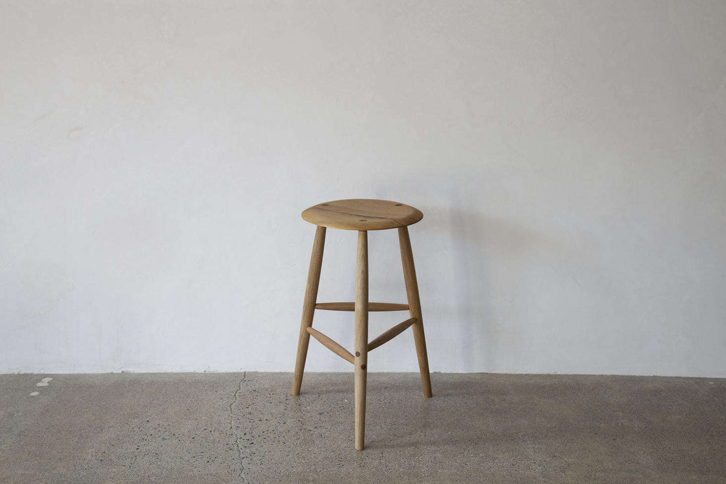 In lieu of a side table, consider an elegant-rustic Tall Stool by Sawkille; from $src=