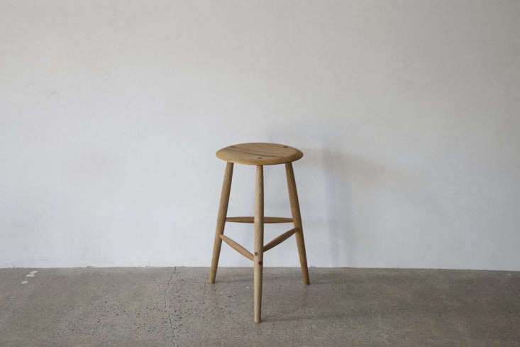 in lieu of a side table, consider an elegant rustic tall stool by sawkille; fro 16
